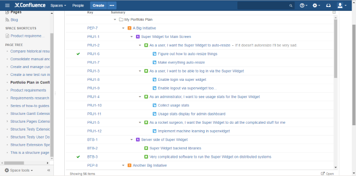 Jira Portfolio Plans in Confluence Pages