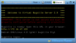 Virtual Bugzilla Started, Screenshot