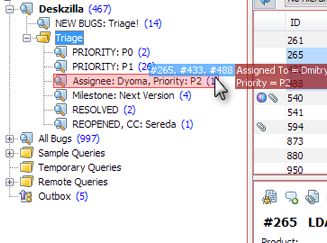 Issue Triage with Drag and Drop in Deskzilla