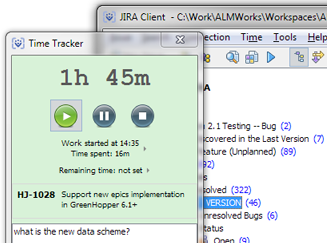 Time Tracking in JIRA Client