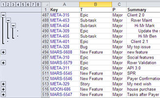 Export structures to Excel