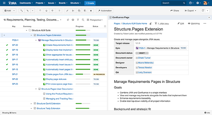 Structure.Pages - The Ultimate JIRA-Confluence Collaboration Tool