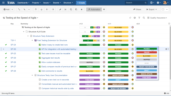 Quick overview of Testy JIRA testing addon